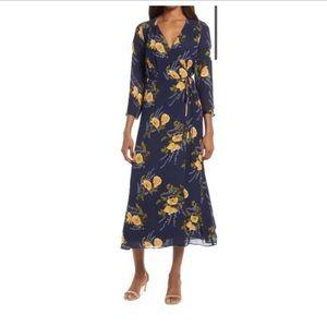 Reformation Alessandra Wrap Maxi Dress B614